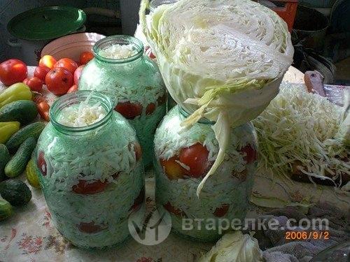 Помидоры в капусте на зиму рецепты с фото
